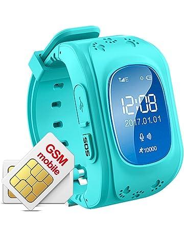 Hangang Rastreador GPS para niños Smartwatch Niños Anti-erra SOS Calling Buscador de niños a
