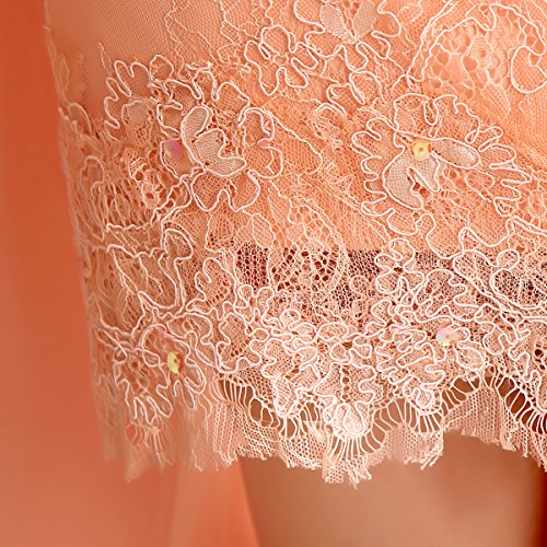 Bal En Mousseline De Soie Demoiselle D'honneur Couleur Gradient Paradis Papillon Robe De Soirée Robe De Bal De Perles B Orange