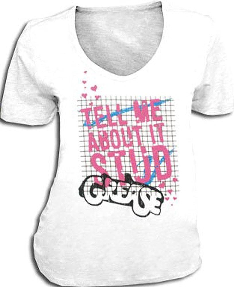Me Grasa Tell Cosas sobre Ella de Tuerca de Color Blanco diseño de los Boca V-Cuello T-Shirt Camiseta para Hombre: Amazon.es: Ropa y accesorios