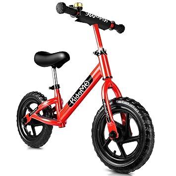 KidoMe 12 Bici sin Pedales Color Rojo Bicicleta de Blalance Equilibrio Altura Ajustable Acero