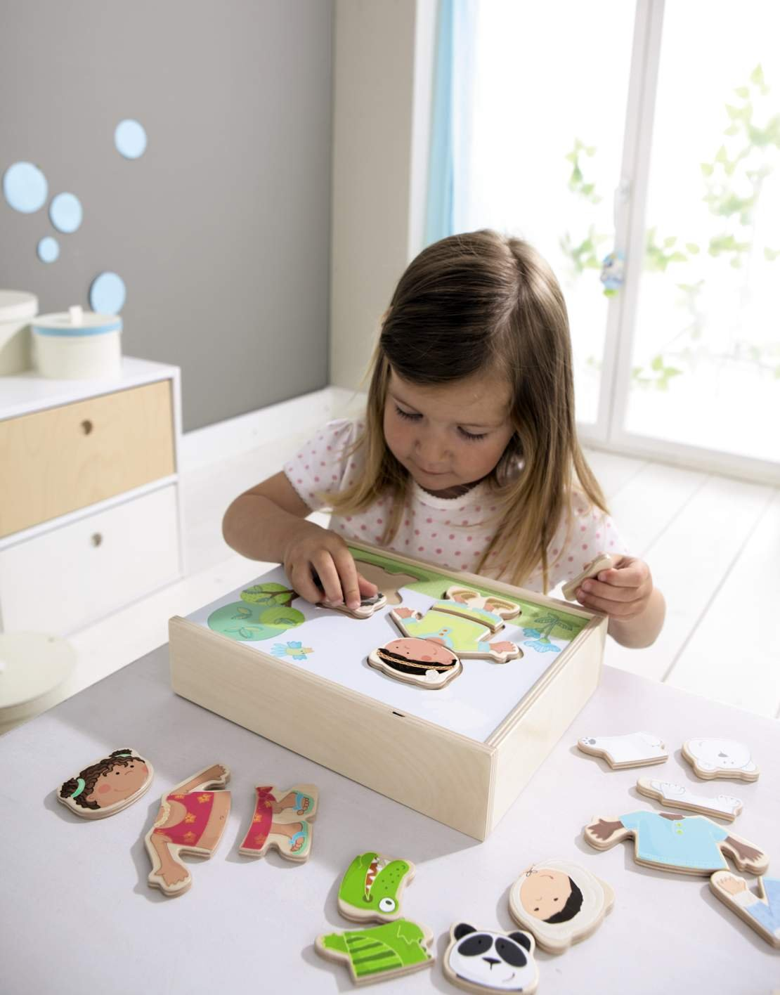 HABA Children of the World - 36 Piece Mix and Match Multi-Cultural Puzzle with Wooden Storage Box by HABA (Image #4)