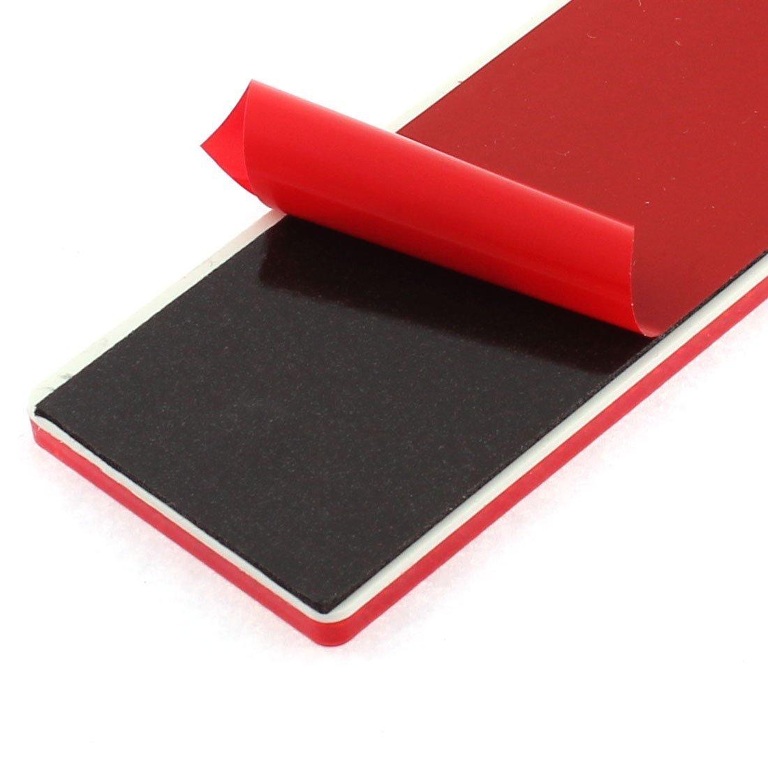 VNDEFUL 5PCS Car Red Reflective Warning Self-adhesive Plate Sticker