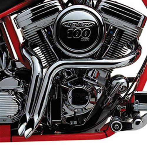 2 Chrome Ypipes Custom Exhaust For Harleydavidson Softail Dyna Fl Touring: Harley Davidson Exhaust Parts At Woreks.co