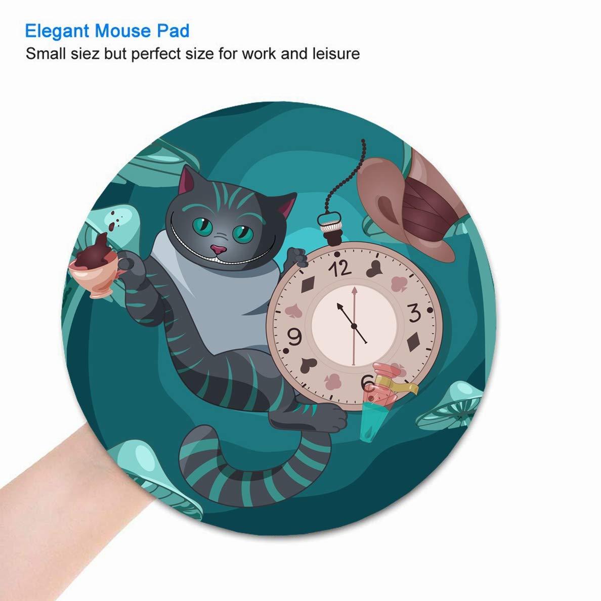 Amazoncom Jamron Mousepad Round Diam 87 Inches Cute Alice
