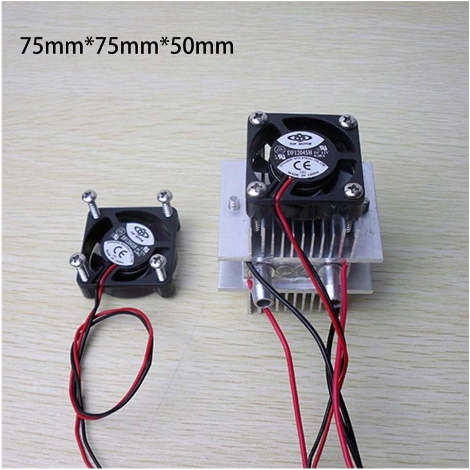 2 Pcs Lianhe DIY Thermoelectric Sets Peltier Cooling Water Cooling Systems Tec1-12706 Coolers Thermoelectric Peltier Cooler Color : Black Fan