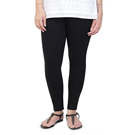 45ea1bbb459547 Vami Cotton Ankle Leggings in Black Colour: Amazon.in: Clothing &  Accessories