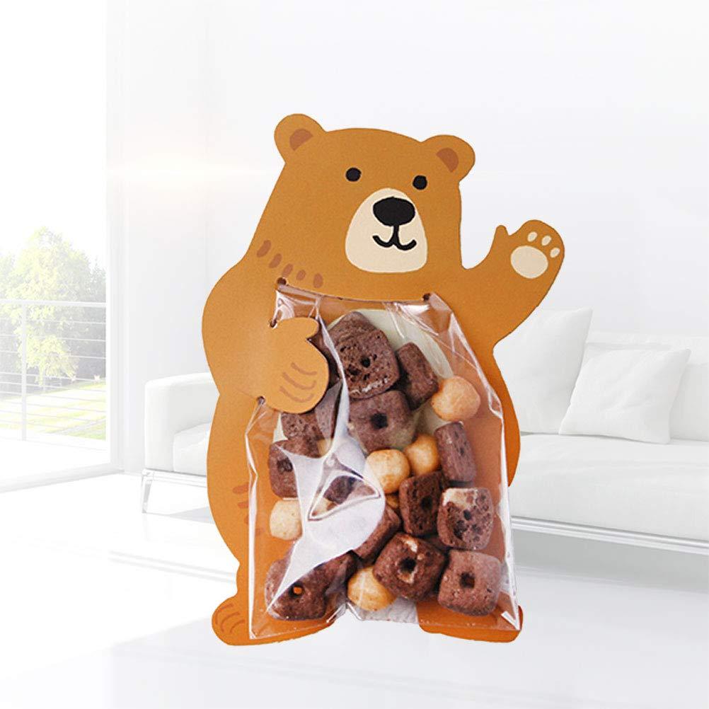 TOYANDONA 10 st/ücke Treat Taschen Cartoon B/är Verpackungsbeutel Selbstklebende Cookie Candy S/ü/ßigkeiten Keks Dessert Tasche DIY Karte Lebensmittel Dekorative Tasche
