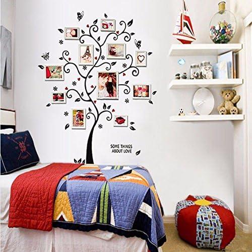 para fotos familiares decoraci/ón de estancias con flores y mariposas mural Zooarts Vinilo adhesivo de pared con forma de /árbol de