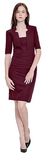 Marycrafts Womens Elegant Work Office Business Pencil Sheath Dress