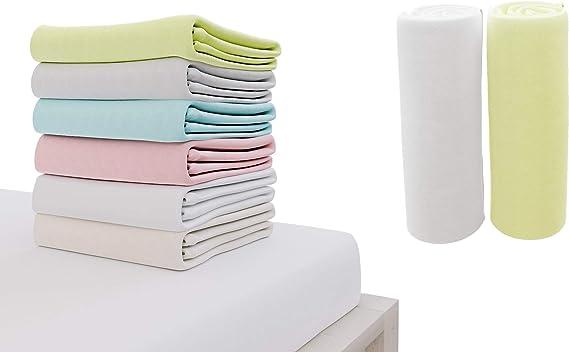 /échelle rose Drap-housse 100/% coton avec motif imprim/é pour lit de b/éb/é 120 x 60 cm