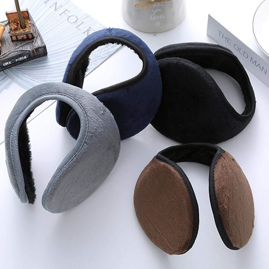 Halffle 1 Pcs Men Earmuffs, Foldable Ear Warmer Unisex, Thicken Ear Warmer Earmuffs, Classic Winter Outdoor Earmuffs by Halffle (Image #8)