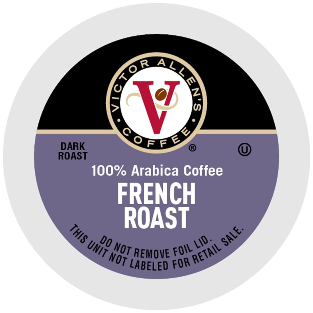 Victor Allen Coffee, French Roast Single Serve K-cup, 200 Count (Compatible with 2.0 Keurig Brewers) by Victor Allen
