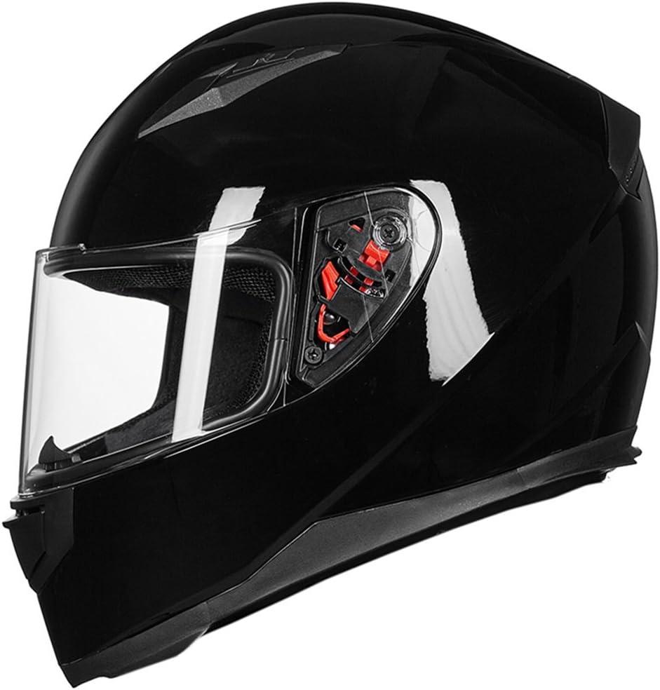 Visor, Clear 2 Visors DOT ILM Full Face Motorcycle Street Bike Helmet with Removable Winter Neck Scarf