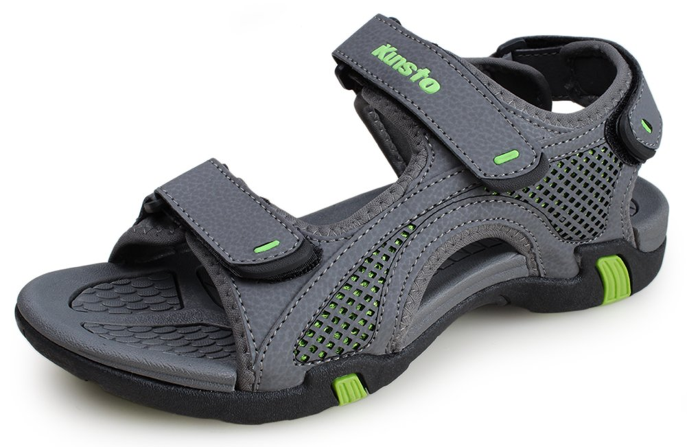 Kunsto Men's Synthetic Leather Open-Toe Sandal 01#4740