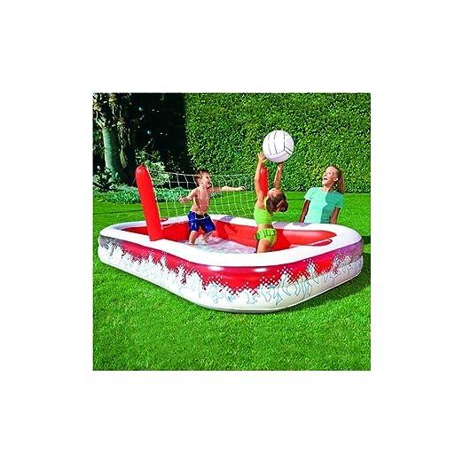 Trade Shop - Piscina Hinchable con Red para Jugar al Voleibol y ...