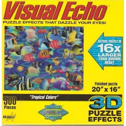 Tropical Colors 3-D Jigsaw Puzzle 500 Piece