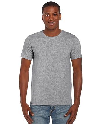 cc087cefa266d1 Gildan SoftstyleTM Adult Ringspun T-Shirt RS Sports Grey L: Amazon.co.uk:  Clothing