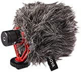 Boya BY-MM1 BY Shotgun Video Microphone Universal Compact On-Camera Mini Recording Mic Directional Condenser for IPhone Android Smartphone Mac Tablet DSLR Camcorder, Black