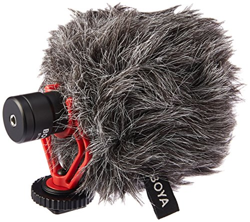 Boya by-MM1 by Shotgun Video Microphone Universal Compact On-Camera Mini Recording Mic Directional Condenser for iPhone Android Smartphone Mac Tablet DSLR Camcorder, Black by BOYA