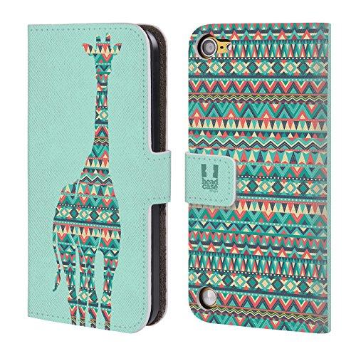 Head Case Designs Giraffa Silhouette Di Animali Con Pattern Cover a portafoglio in pelle per iPod Touch 5th Gen / 6th Gen