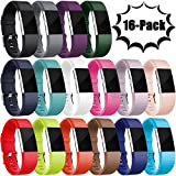 For Fitbit Charge 2 Bands, Maledan Replacement Accessory Wristands for Fitbit Charge 2 HR, Large Small