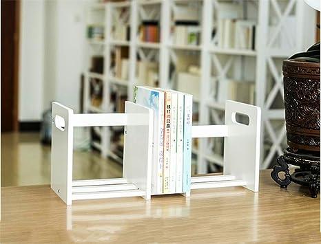 Qxwl scaffale per libri scaffale per scrivania in legno telescopico
