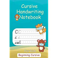 Cursive Handwriting Notebook For Kids: Notebook with Dotted Sheets for Students to Practice Cursive