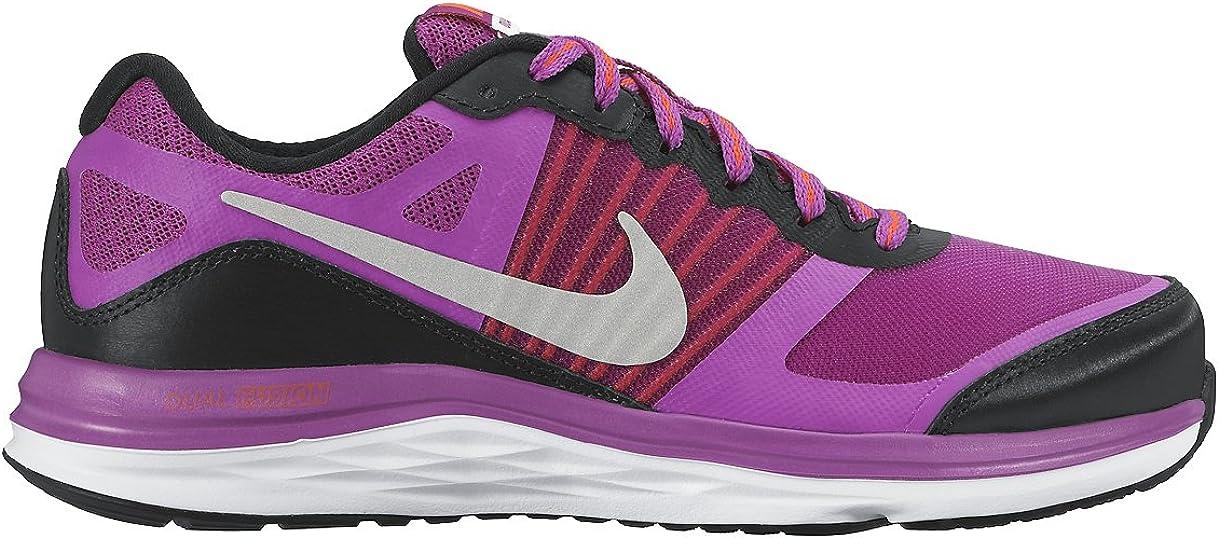 Nike Dual Fushion X (GS) - Zapatillas para niña, Color Negro/Plateado/Morado: Amazon.es: Zapatos y complementos