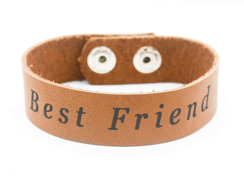 Lan Jin Art Best Friend Bracelet Jewelry Graduation Party Brown Real Leather Bracelet Jewelry Graduation Gift