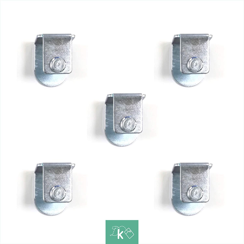 Dreaming Kamahaus Pack de Abrazaderas para somier   4 Unidades   Apta para Patas con Tornillo de 10mm  Compatible con somier de 30x40   Acero  