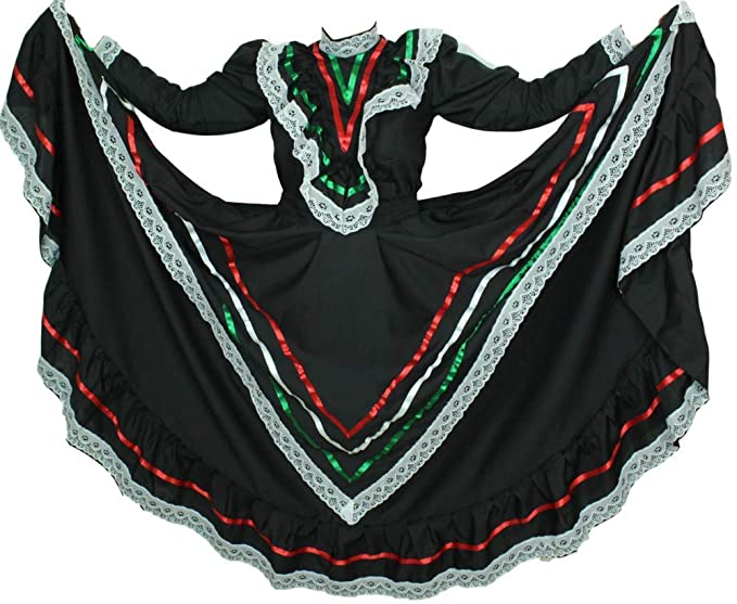 Mexican Traditional Dress Tapatio Jalisco Vestido Tipico Mexicano