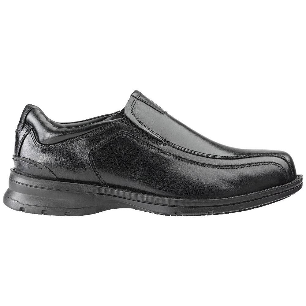 Dockers SureGrip Mens Shelton Black Slip-On Slip Resistant Work Shoes 9M