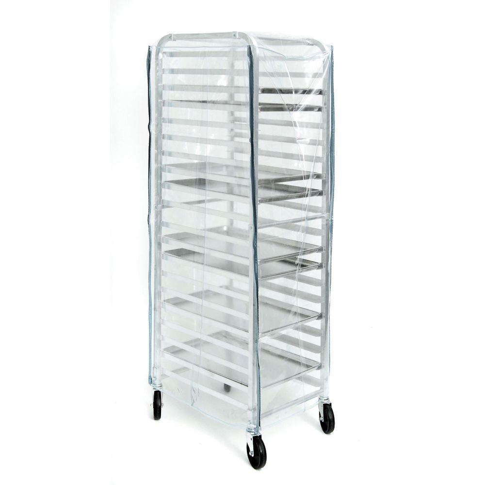 HUBERT Pan Rack Cover Clear Vinyl - 28 1/2 L x 24 1/2 W x 62 1/2 H
