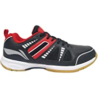 Li-Ning Attack III Non Marking Badminton Shoes Black/Red