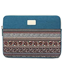 13-13.3 Inch laptop tablets Sleeve Case Bag, Bohemian Canvas Case Sleeve Carrying Travel Bag for 13-13.4 Inch Notebook Computer for Apple Macbook Air, Macbook Pro, Chromebook, Acer, Dell, HP, Samsung, Sony
