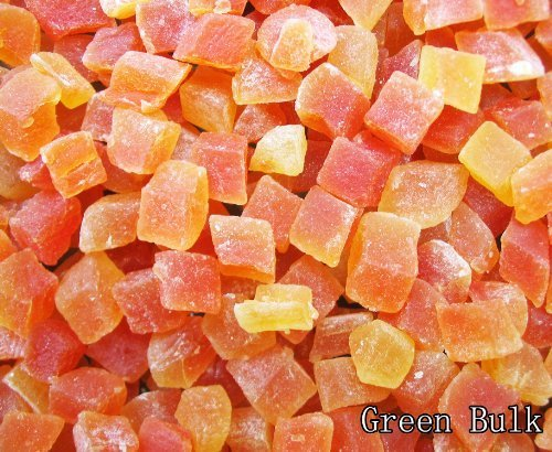 Natural Dried Papaya Dices, Low Sugar, Unsulphured, 4 lb from Green Bulk