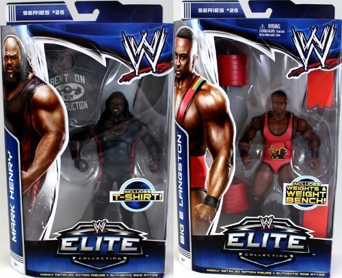 Rare WWE Big E Langston MATTEL Elite Collection Série 26 Wrestling Figure