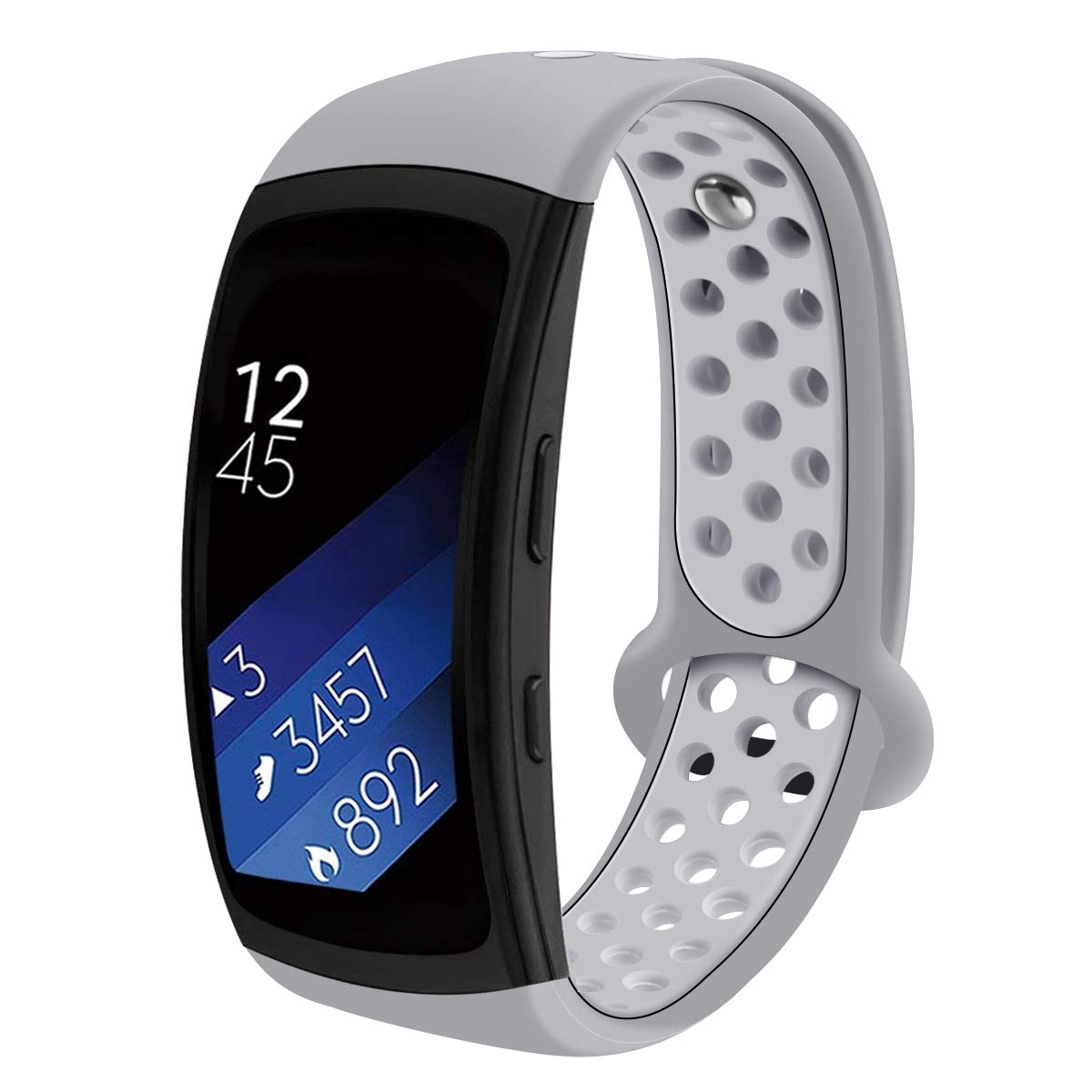 Compatible Samsung Gear Fit2 Pro Watch Band/Samsung Gear Fit 2 Band, Replacement Bands Wristbands Straps Bracelet Accessories for Gear Fit 2 Pro SM-R365/ Fit2 SM-R360 (Gray)