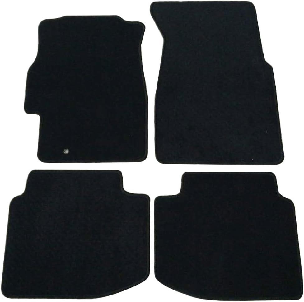 Amazon Com Floor Mats Compatible With 1996 2000 Honda Civic 2 3 4 Door Nylon Black Front Rear Carpet By Ikon Motorsports 1997 1998 1999 Automotive