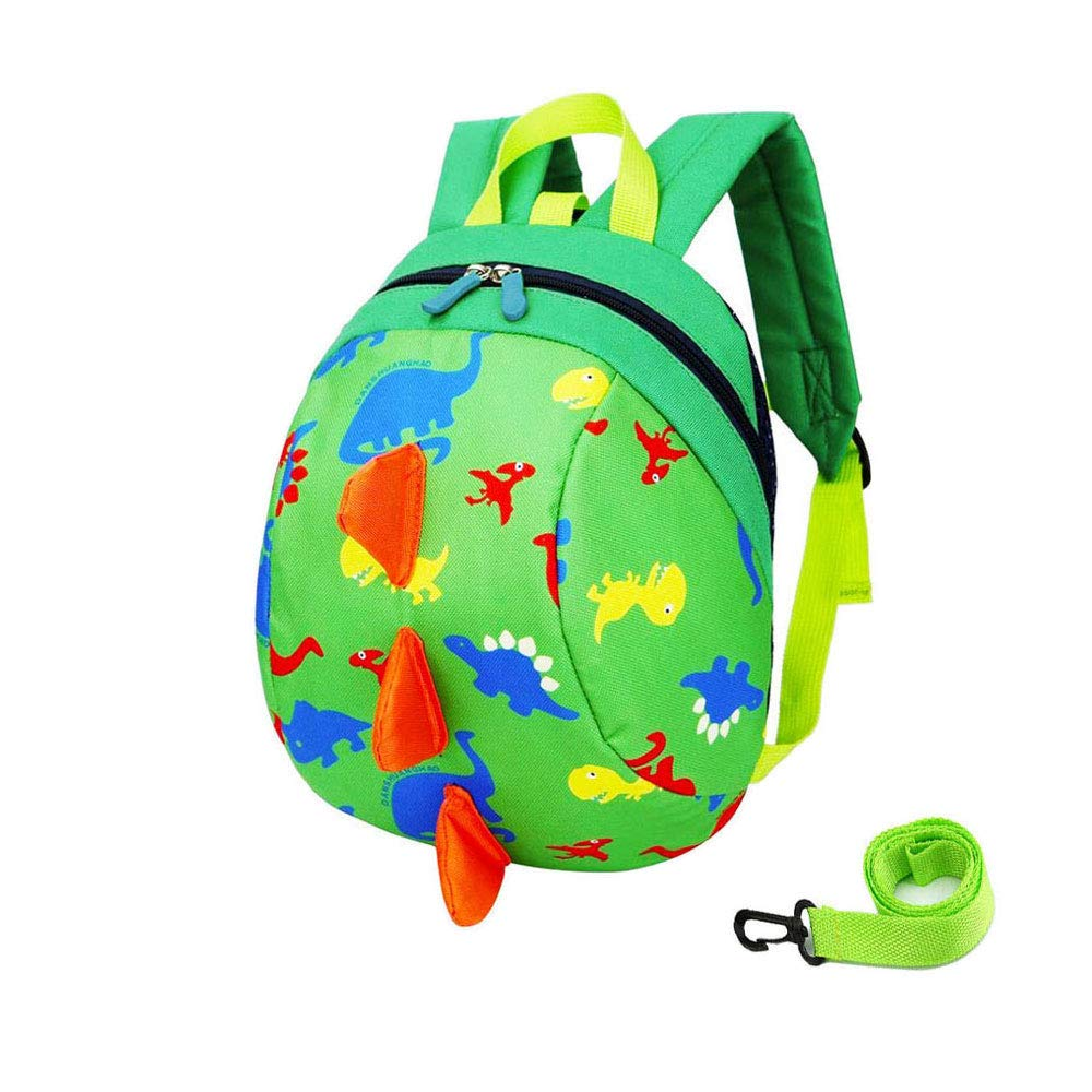 DB Toddler Backpack with reins, Kid Anti-Lost Rucksack with Safety Harness, Baby Dinosaur Preschool with Leash for 1-3 Boys and Girls.