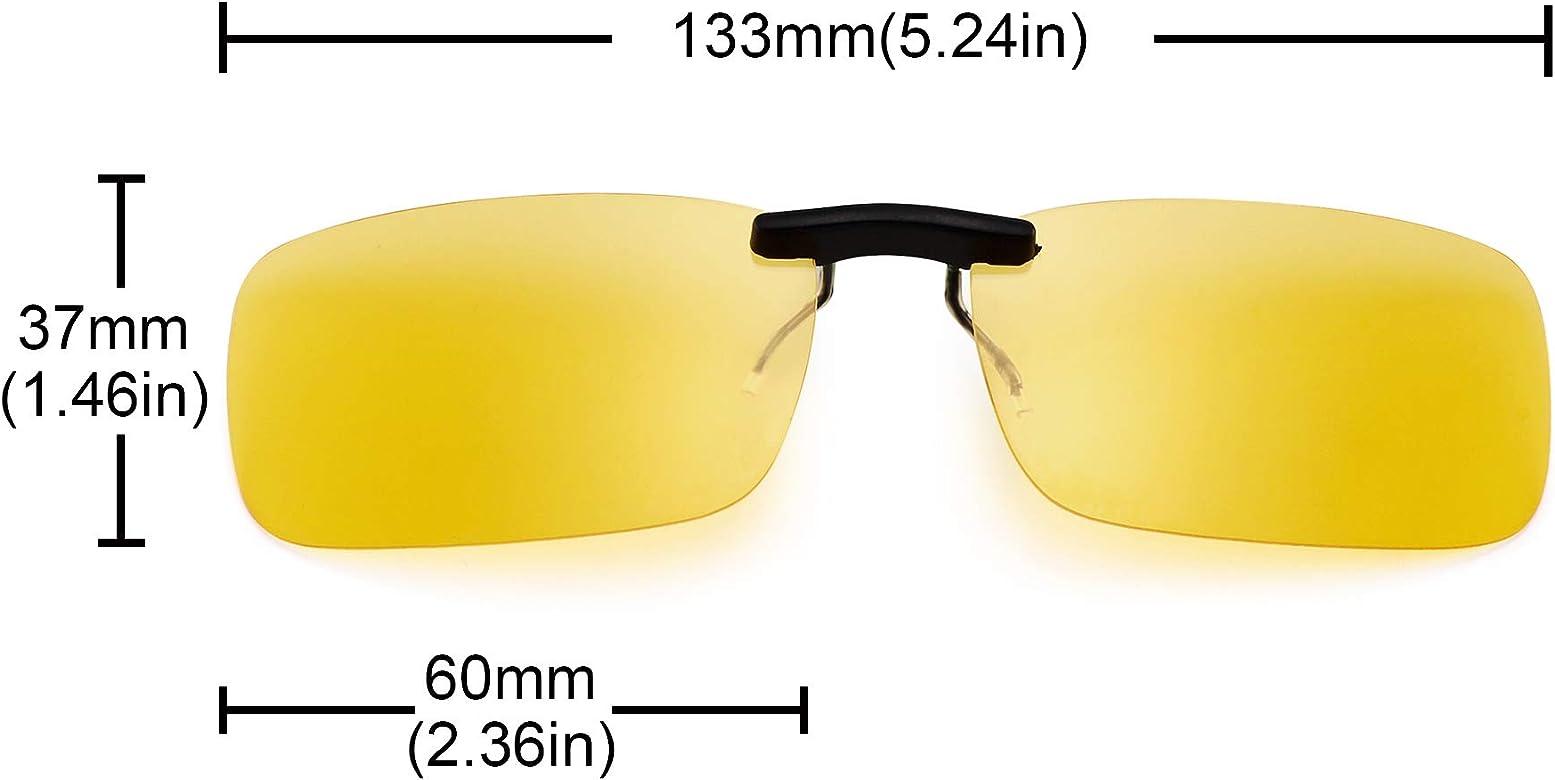 JM Sin marco Rectángulo Clip en Gafas de Sol Ligero Peso Polarizadas Anteojos Hombre Mujer