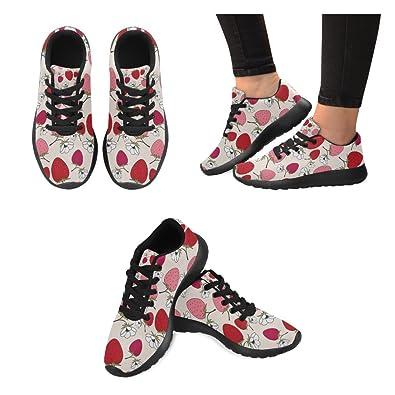INTERESTPRINT Womens Running Shoes Cute Cartoon Animals Pattern Print Outdoor Running Sneakers