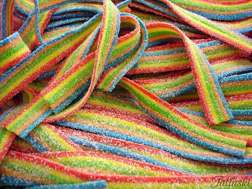 Smarty Stop Sour Candy Belts All Color (Rainbow) ()