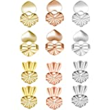 6 Pairs Earring Lifters, Magic Earring Lifters, Adjustable Hypoallergenic Earring Secure Backs Lifters for Droopy Ears