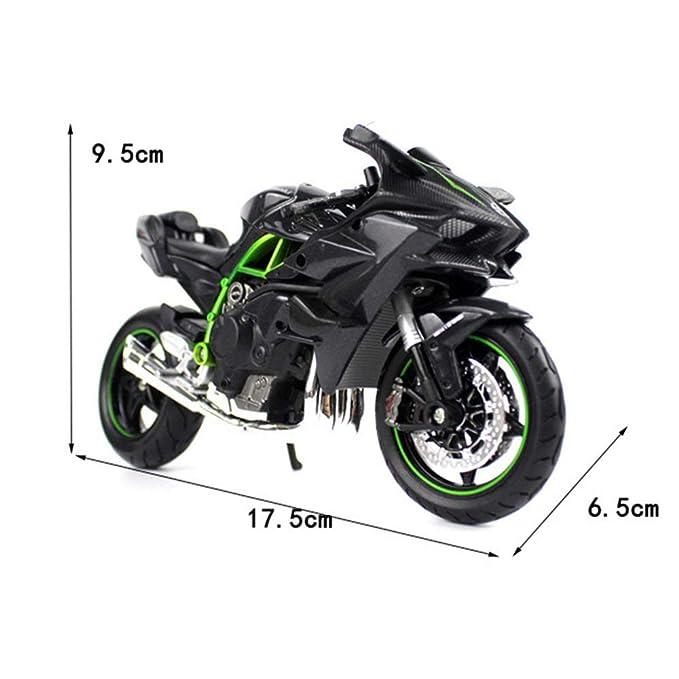 Amazon.com: LMEI-Cars 1:12 Kawasaki H2R - Modelo de ...