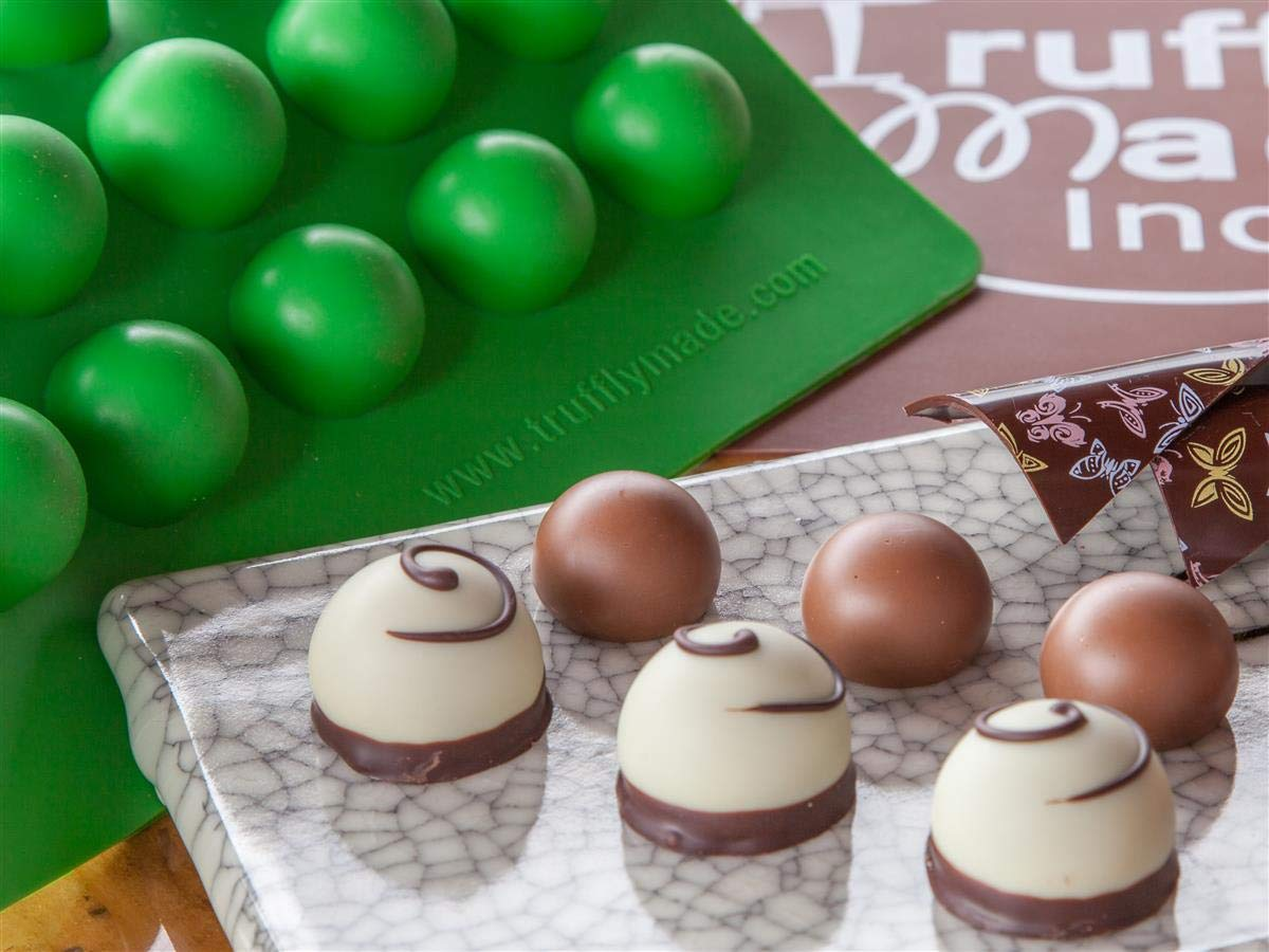 Truffly Made Round Silicone Mold for Chocolate Truffles, Ganache, Jelly, Pralines and Caramels by Truffly Made (Image #8)