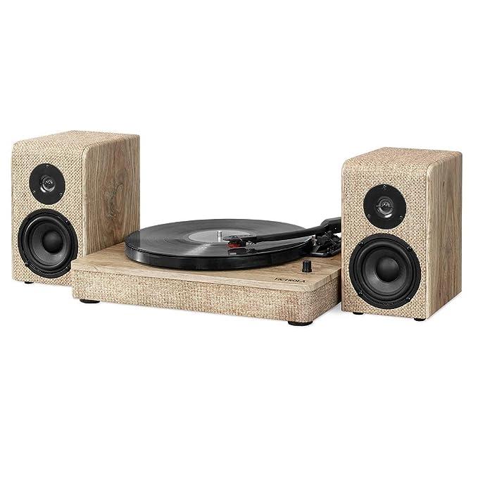 Victrola Hampton Tocadiscos Bluetooth de Madera con Altavoces ...