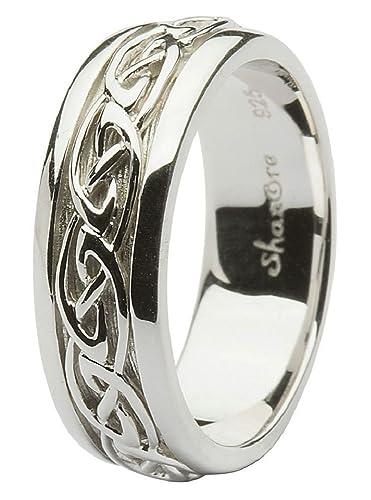 8061cad12d8 Sterling Silver Men s Celtic Wedding Ring ...