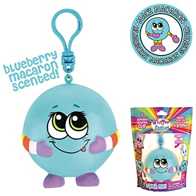 Whiffer Squishers Maci Macaron Slow Rising Squishy Toy Blueberry Macaron Scented Backpack Clip: Toys & Games