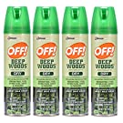 Off! Deep Woods Dry Insect Repellent VIII 4 oz (4 Pack)